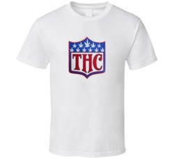 THC Hybrid NFL Logo Super Bowl Denver Seattle Marijuana Football T Shirt
