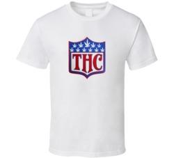 THC Hybrid NFL Logo Super Bowl Denver Seattle Marijuana Football T Shirt