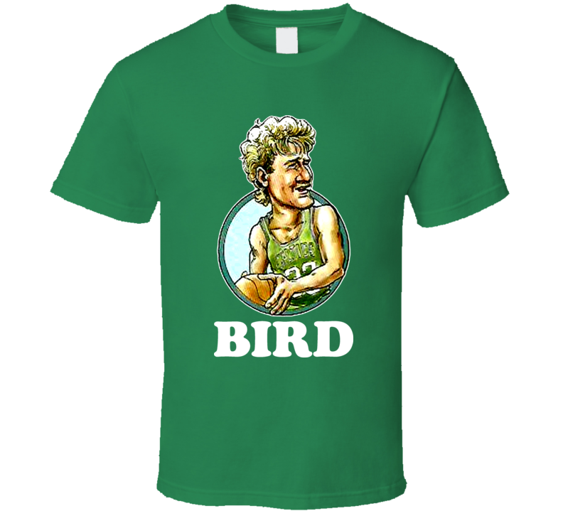 Larry Bird Boston Celtics Basketball Retro Caricature T Shirt