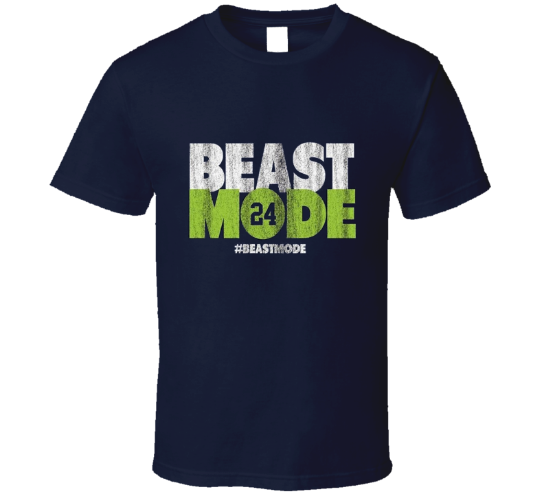 Beast Mode Seattle Seahawks Football 12th Man Marshawn Lynch T Shirt