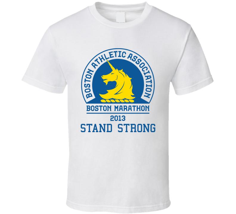 Boston Stand Strong Marathon 2013 Runner T Shirt