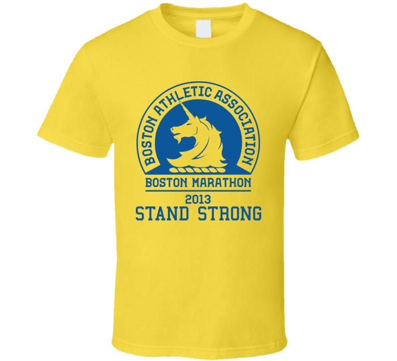 Boston Stand Strong Marathon 2013 Runners Yellow T Shirt