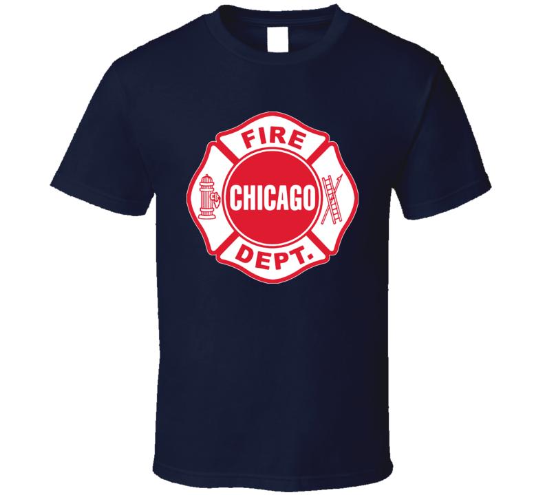 Chicago Fire Department Fire Fighter City T Shirt