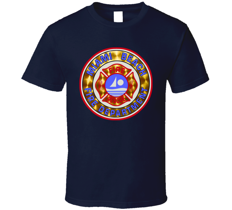 Miami South Beach Fire Department Firefighter T Shirt