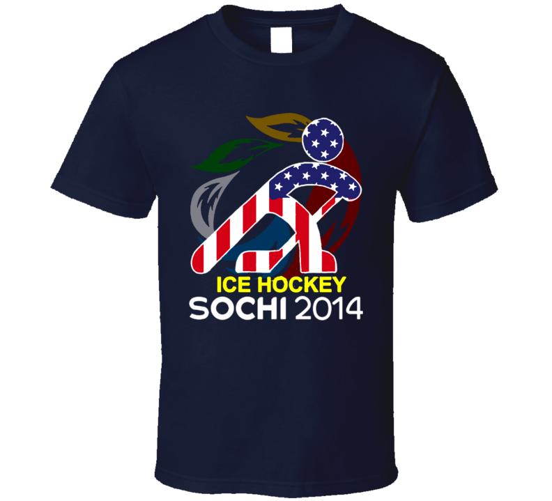 Sochi 2014 Winter Olympics Team USA Hockey T Shirt