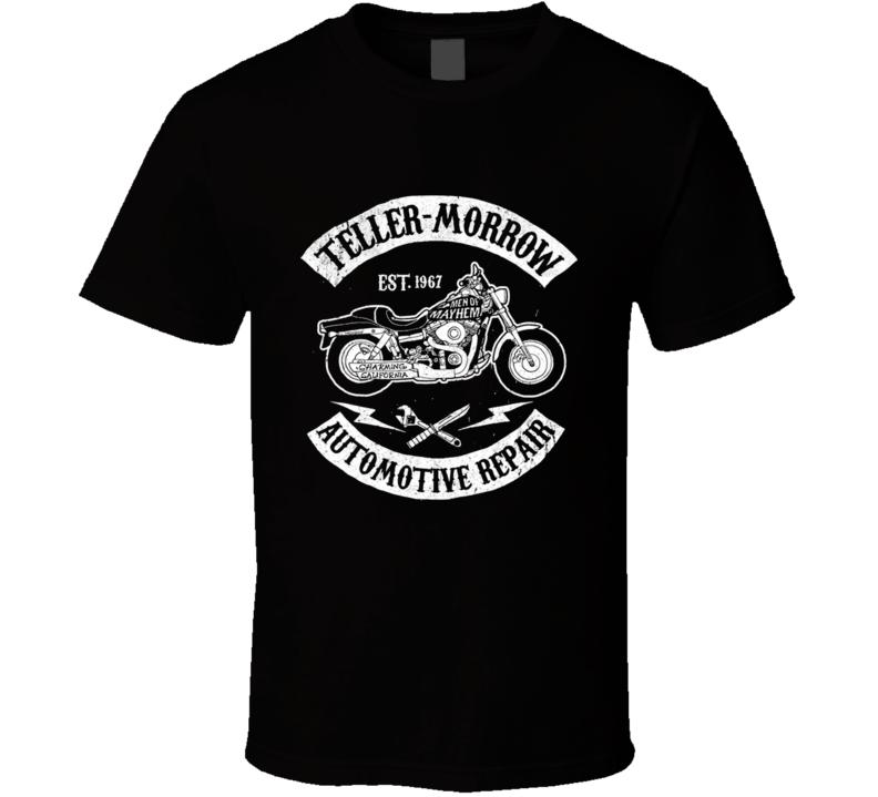Sons Of Teller Morrow Automotive Biker Tv Show Classic Black T Shirt