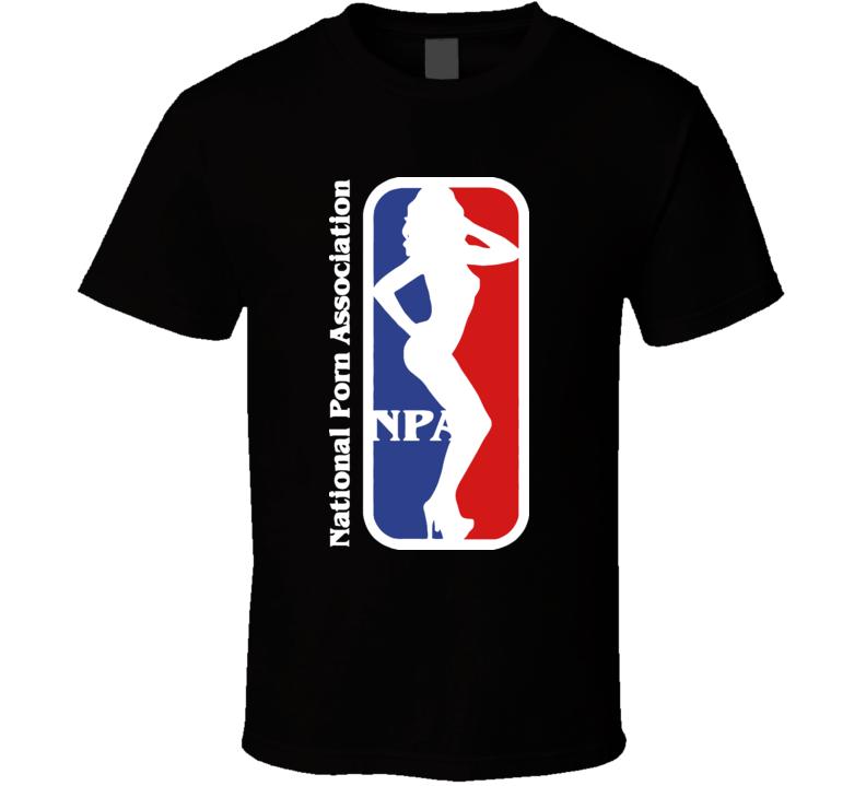 National Porn Association Porn Star Adult Mens Black Cool T Shirt