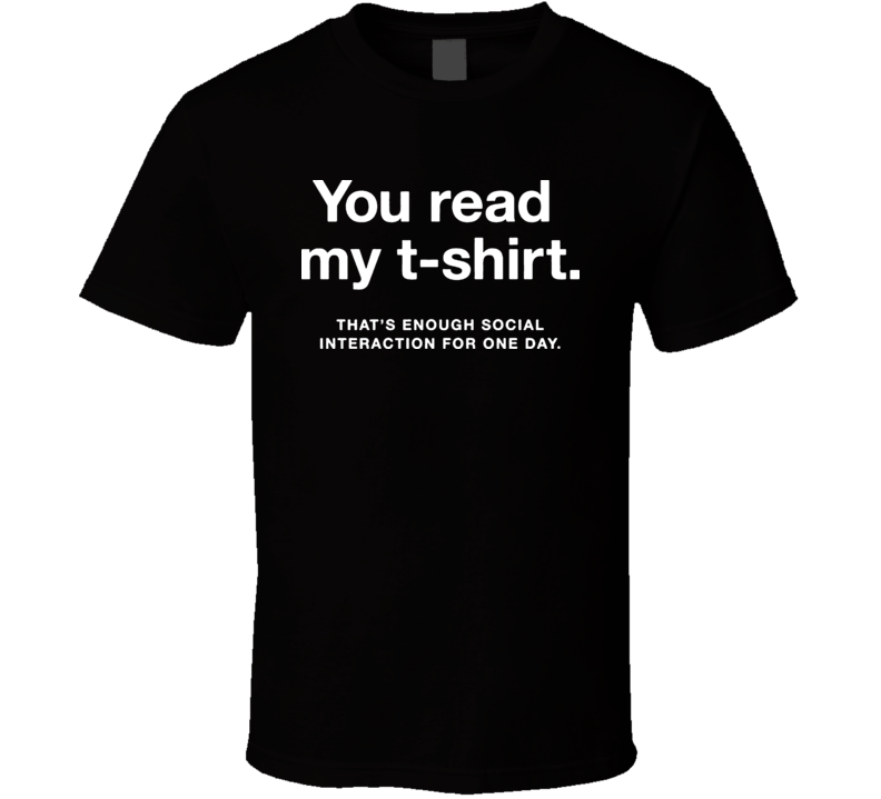 The Big Bang Theory Sheldon Cooper You Read My T Shirt Tv Show Black