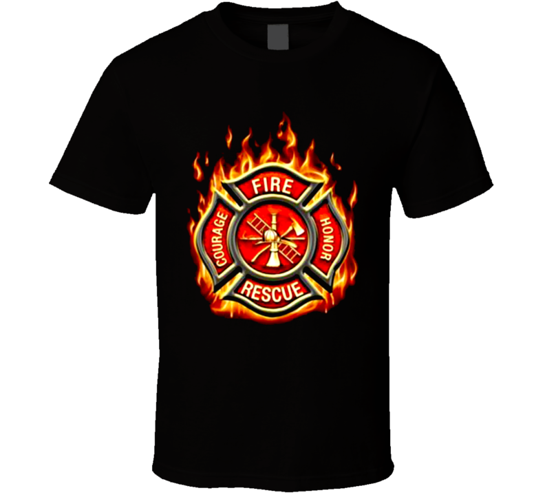 Classic Fire Rescue Fire Fighter FF2065 T Shirt