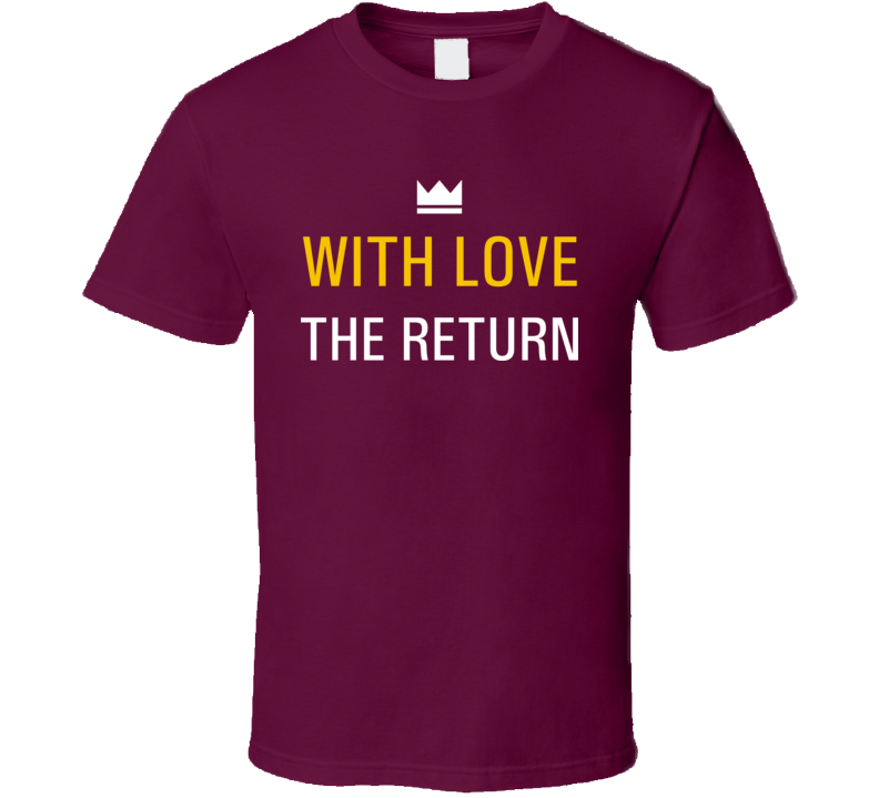 Witness The Return With Love Cleveland Basketball T Shirt