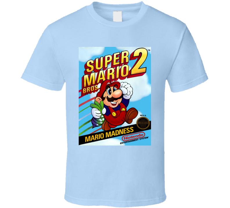 Super Mario Bros 2 Original Nintendo Retro Classic Video Game T Shirt