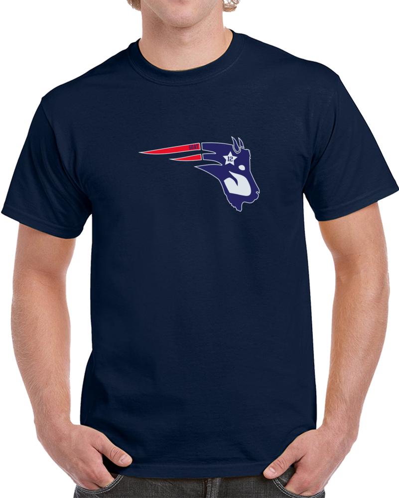 Tom Brady Goat New England Footbal Hybrid Logo T Shirt