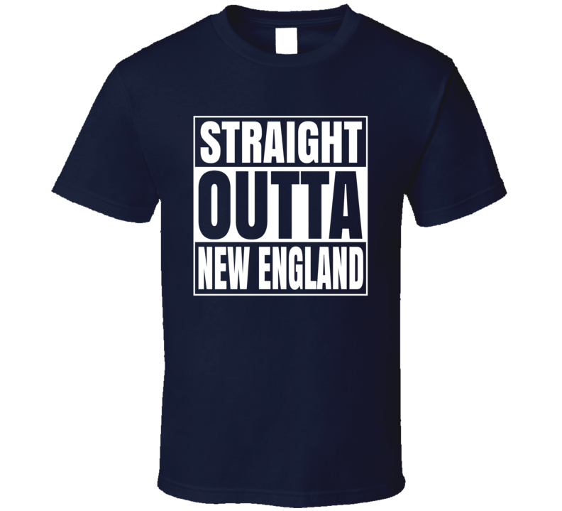 Straight Outta New England Comton Style Football T Shirt