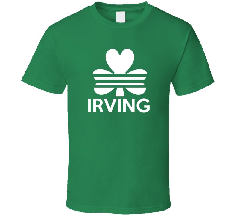 Irving Boston Irish St. Patricks Basketball Adidas Inspired T Shirt