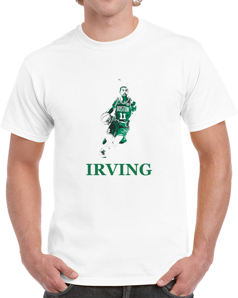 Kyrie Irving Boston Silhouette Basketball T Shirts T Shirt