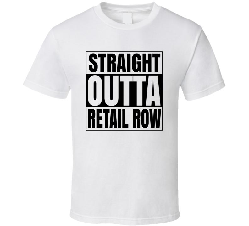 Straigh Outta Retail Rown Fortnite Video Game T Shirt