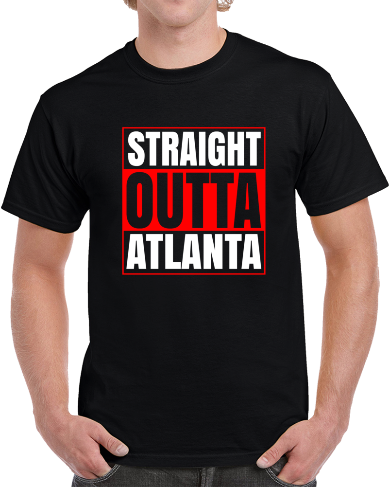Straight Outta Atlanta Georgia Compton Style Sports Football T Shirt