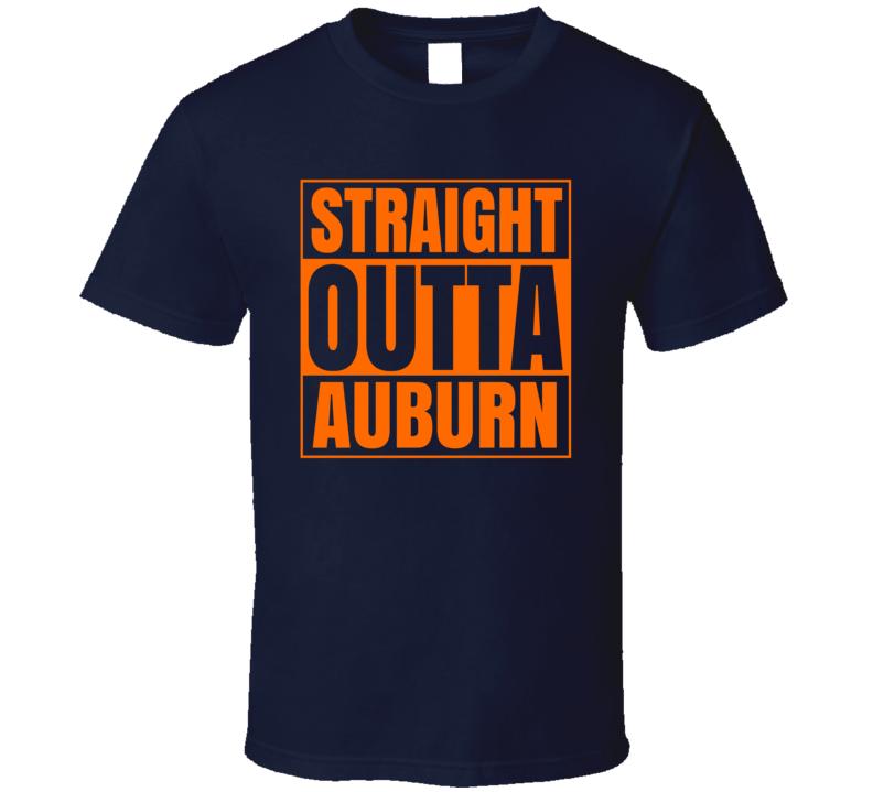 Traight Outta Auburn Alabama University March Madness Basketball T Shirt