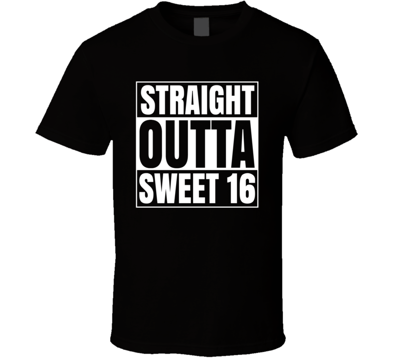 Straight Outta Sweet 16 March Madness Basketball Compton Parody T Shirt