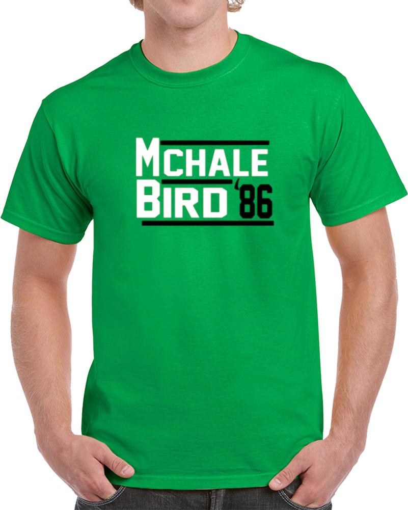 Mchale Larry Bird 1986 Campaign Basketball Boston T Shirt