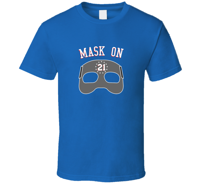Joel Embiid Mask On Playoff Philadelphia Playoff Basketball T Shirt
