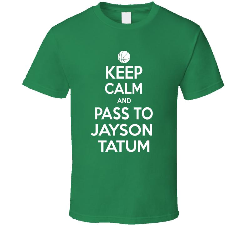 Jayson Tatum Keep Calm Boston Basketball Fan Supporter T Shirt