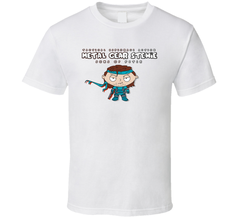 Metal Gear Solid Family Guy Parody Funny Stewie T Shirt