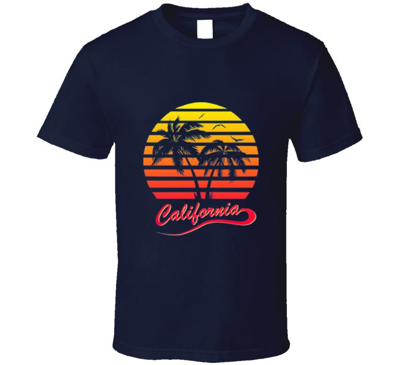 California Retro Vintage 80's Style Cool T Shirt
