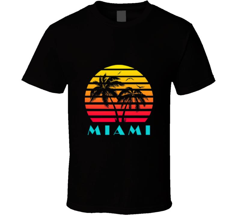 Miami Retro 80's Vintage Classic Souvenir Florida T Shirt