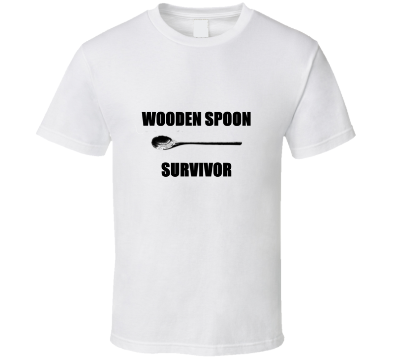 Wooden Spoon Survivor Funny 80's Childhood T Shirt