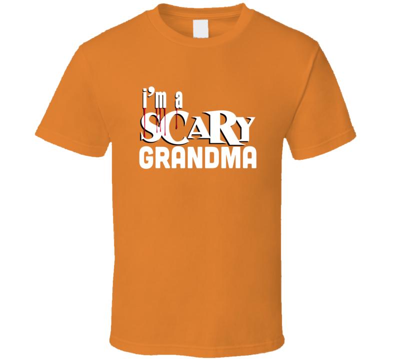 I'm A Scary Grandma Grandmother Funny Halloween T Shirt