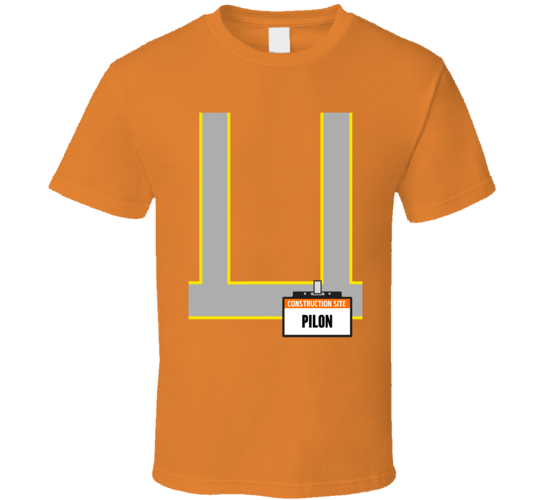 Funny Construction Pilon Halloween Costume T Shirt