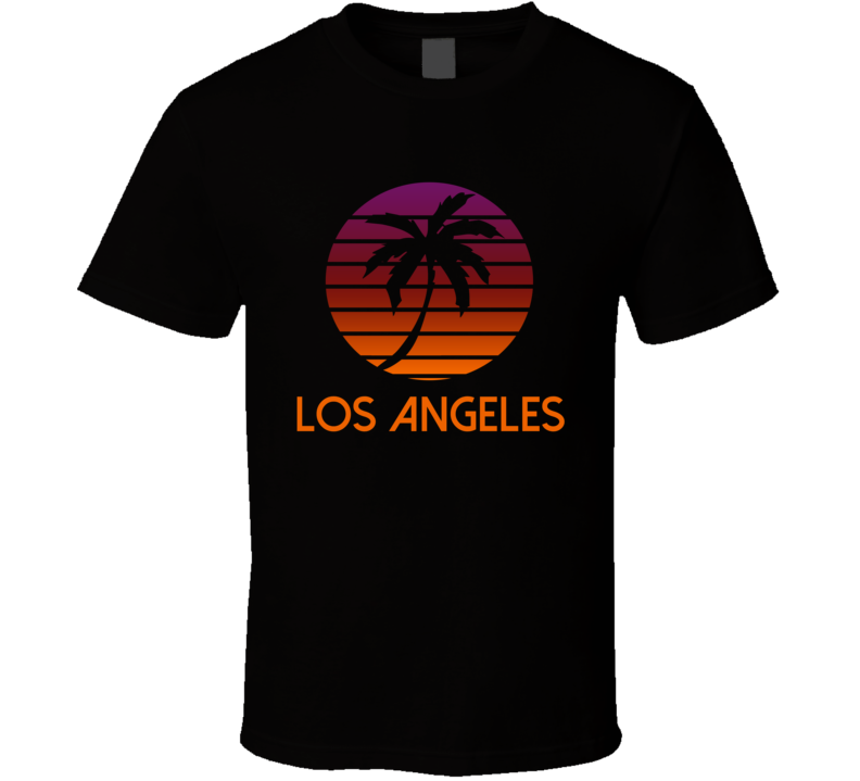 Los Angeles Retro Sunset 80's Style Vintage T Shirt
