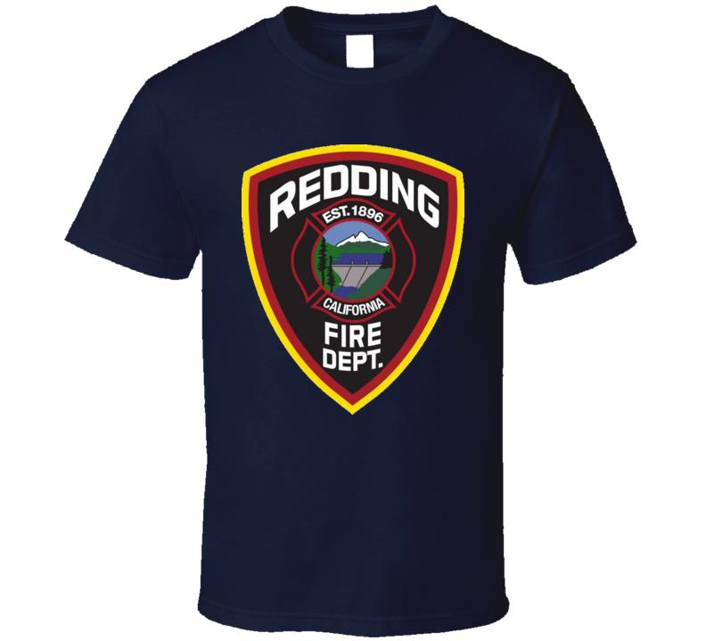 Redding Fire Dept California Fire Fighter T Shirt