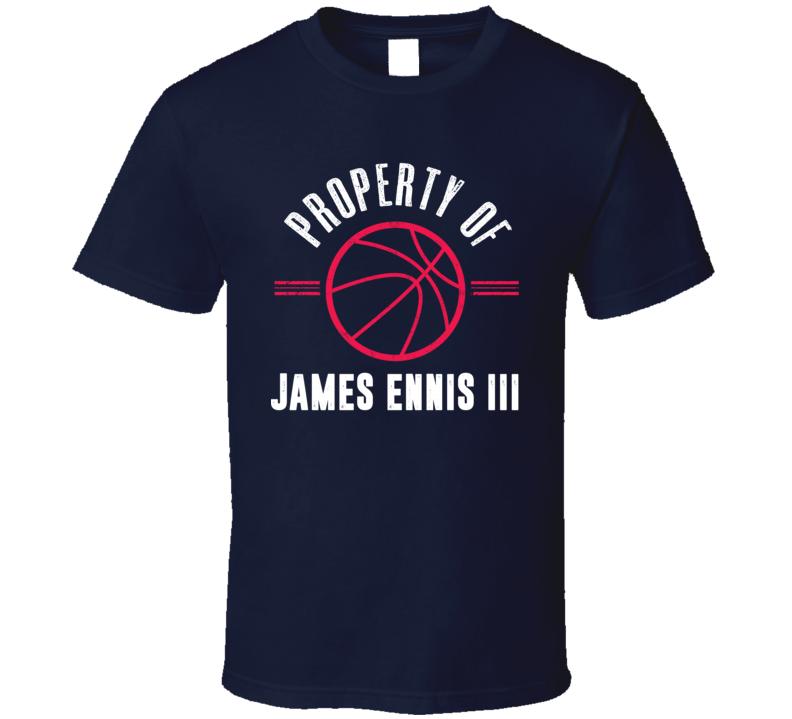 Property Of James Ennis Philadelphia Basketball T Shirt