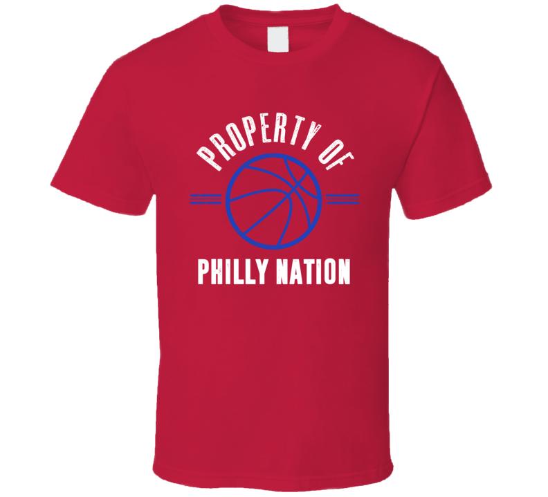 Property Of Philadelphia Phillphilly Nation Basketball T Shirt