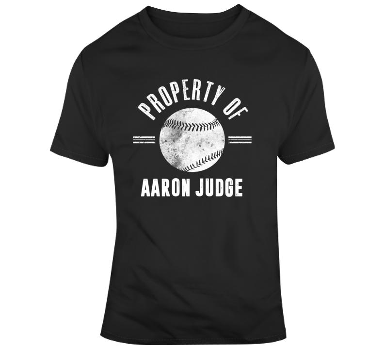 Property Of Aaron Judge New York Baseball T Shirt