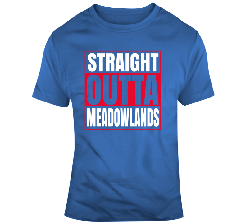 Straight Outta Meadowlands New York Football Team Stadium T Shirt