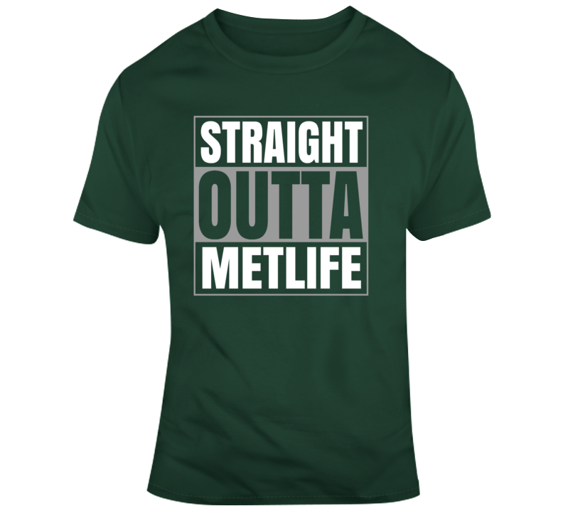 Straight Outta Metlife New York Football T Shirt