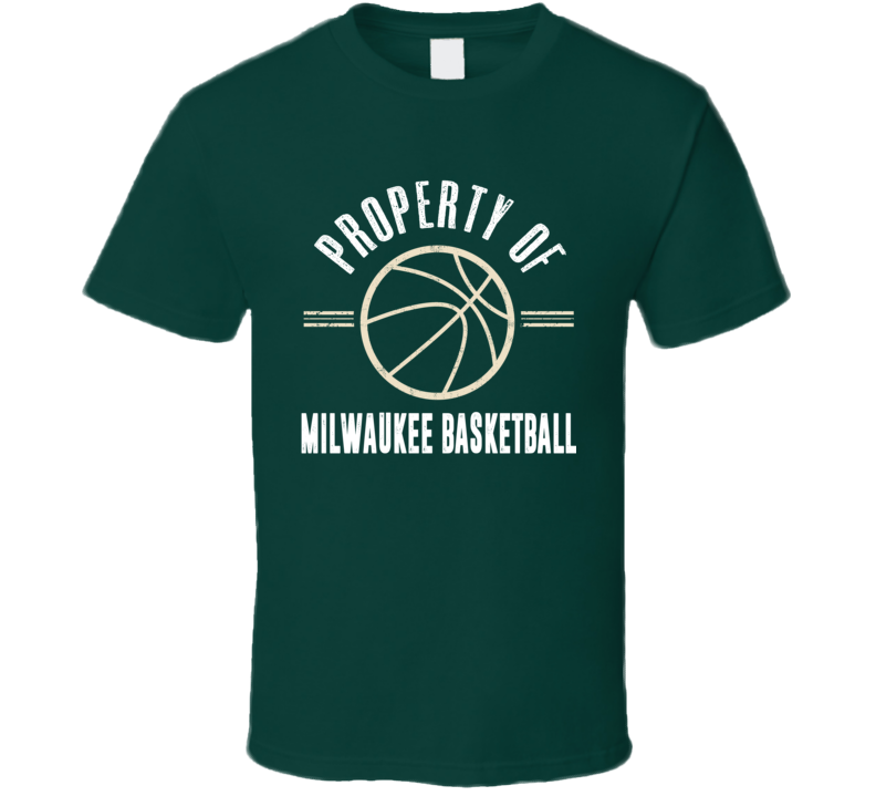 Property Of Milwaukee Basketball Fan Supporter T Shirt
