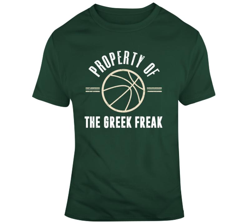Property Of The Greek Freak Giannis Milwaukee Basketball T Shirt