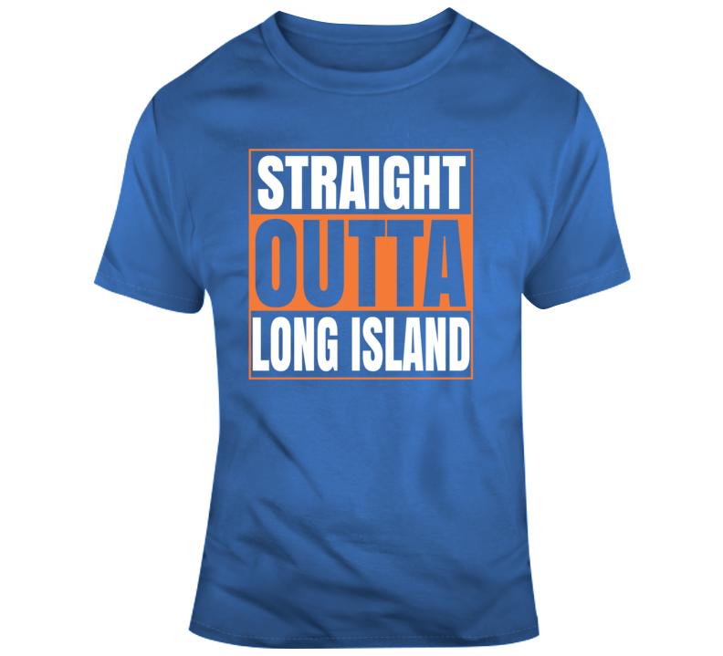 Straight Outta Long Island New York Hockey T Shirt