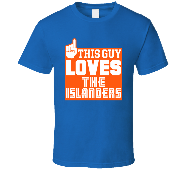 This Guy Loves New York Hockey Island T Shirt