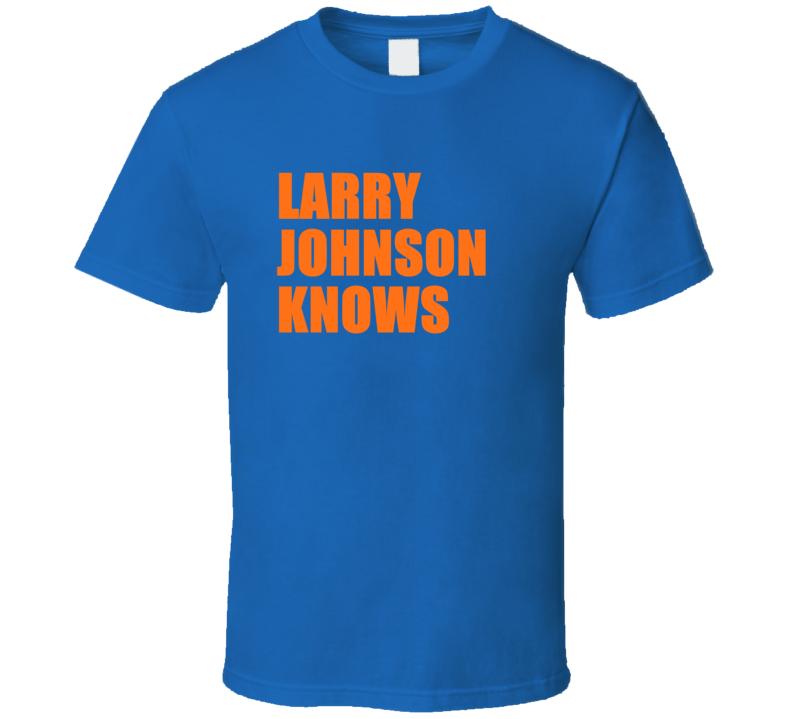 Larry Johnson Knows New York Retro Vintage Basketball T Shirt