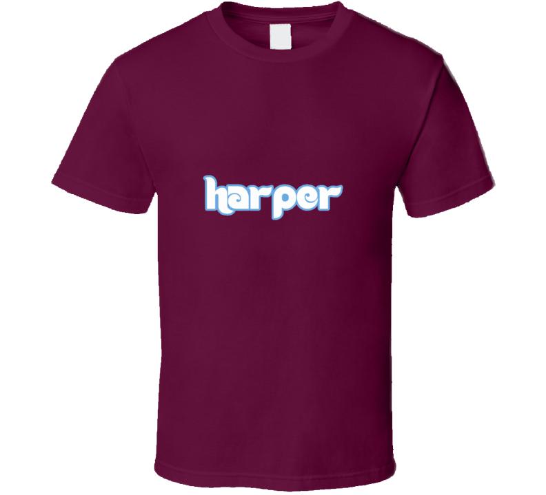 Bryce Harper Philadelphia Baseball Player Fan Supporter Hybrid Logo T Shirt