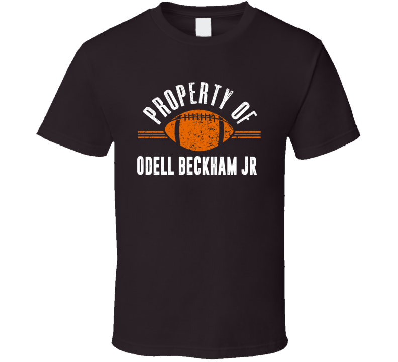 Property Of Odell Beckham Jr Cleveland Football T Shirt