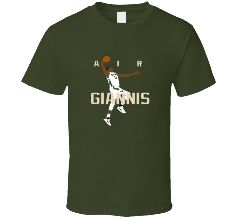 Air Giannis Antentokounmpo Milwaukee Bucks Air Pic T Shirt