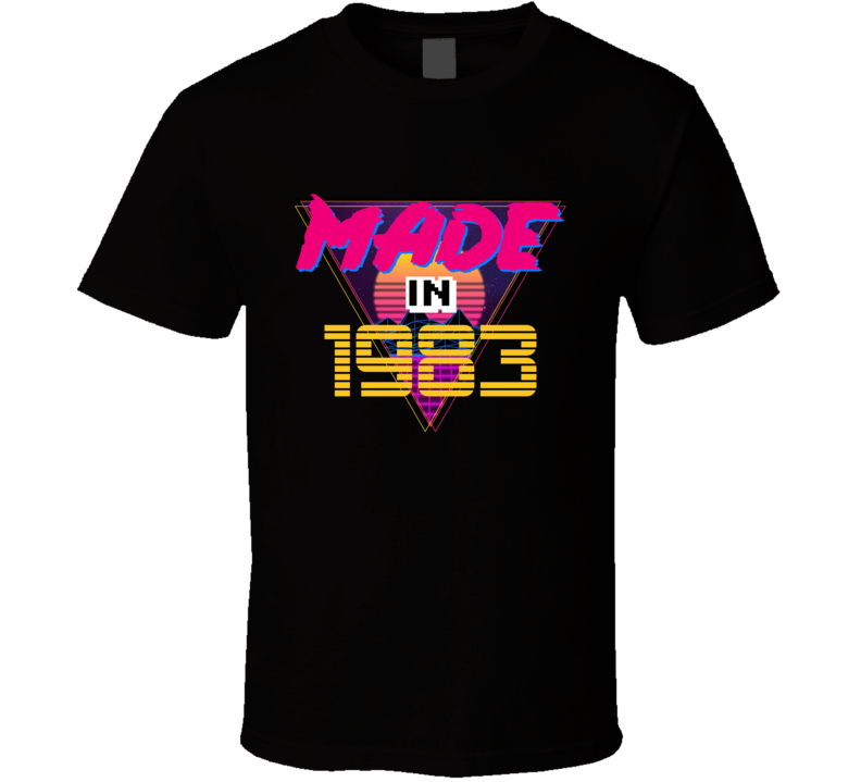 Made In 1983 Retro Vintage Classic Birthday T Shirt