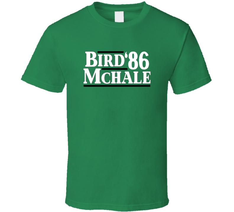 Larry Bird Kevin Mchale 1986 Presidential Boston V2 T Shirt