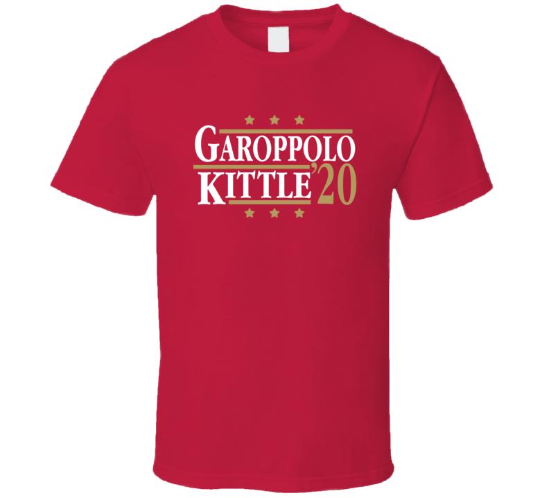 Jimmy Garoppolo George Kittle 2020 Election Style San Francisco Football Fan T Shirt